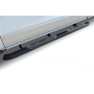 "4"" OVAL RAM 1500 QUAD CAB (19-21) BLACK"